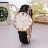 Montre de dames chaude de montre de cuir d'ODM de montre de vente (Wy-132E)