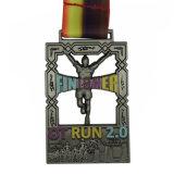 Médaille molle en métal de Weightlifting d'émail du logo 3D en alliage de zinc