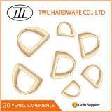Les accessoires de boucle de matériel de sac à main de moulage mécanique sous pression, joint circulaire léger en métal d'or