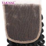 Yvonne Virgem grossista Kinky Brasileira Curly Lace Encerramento de cabelo humano