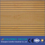 Placa acústica de madeira do folheado para a reunião