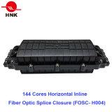 144 coeurs en ligne horizontale à fibre optique La fermeture de l'épissure