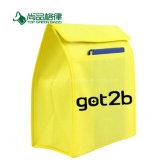 Preiswerter einfacher nicht gesponnener Isolierpicknick-Kühlvorrichtung-Beutel mit vorderer Tasche
