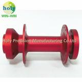 De rode Geanodiseerde Douane die van de As van het Aluminium de Delen van de Precisie machinaal bewerken