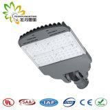 Luz de rua ajustável 100W ao ar livre do diodo emissor de luz, lâmpada de rua solar barata do diodo emissor de luz da luz de rua do diodo emissor de luz com aprovaçã0 de Ce& RoHS