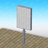 Publicidad del rectángulo ligero del movimiento en sentido vertical material de aluminio con la luz puesta a contraluz LED