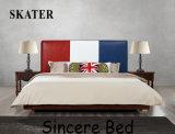 Современном американском стиле ткань кровати кровати из кожи мебель с одной спальней A28