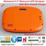 """Разъем 66 Handheld GPS навигатора GPS автомобиля Bike мотоцикла водоустойчивого IP65 удостоверения личности новой фабрики 4.3 """", вздрагивание 6.0, 800MHz Cortext-A7, Bluetooth, Sat Nav"""