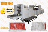 Pantalla táctil PLC Mcgs V Marca la parte inferior de la bolsa de papel que hace la máquina, el papel de la bolsa de pan que hace la máquina con dos colores de la máquina de impresión Flexo en línea
