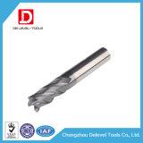 2/4 de flauta moinho de extremidade contínuo do quadrado do carboneto da hélice de 35 graus
