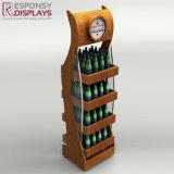 Étalage en bois de commerce de détail de bruit de type créateur chaud de vente pour Champagne et boissons