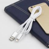 Novo produto colorido cabeça de metal trançado cabo do carregador de carregamento USB