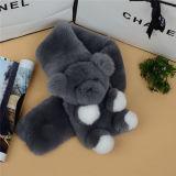 Stabile Form-weicher neuester Kaninchen-Pelz-Schal