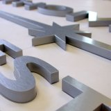 bâti de l'acier inoxydable 3D et signe acrylique de lettre d'éclairage du matériau DEL
