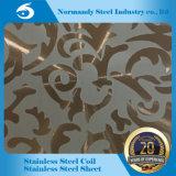 AISI 201/304/410/430 geprägtes Edelstahl-Blatt für Dekoration und Aufbau