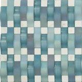 Mosaïque mélangée bleue de salle de bains de couleur et en verre de piscine