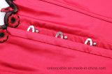 Talladora roja de la carrocería del corsé del amaestrador de la cintura de Underbust de la media taza especial