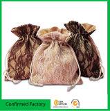La naturaleza y la elegancia Burlap-Style Cordón bolsas Bolsa de arpillera de encaje