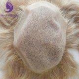 人(TP05)のためのブロンドのバージンのインドの毛のモノラル基礎Toupee