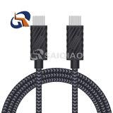 C 5g PVC+Braided 케이블에 공장 직매 USB3.1 C