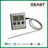 Fácil de operar la horquilla de barbacoa Digital Termómetro con temporizador y alarma Ot5212b