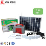 Портативная светодиодная лампа 7 комплект системы солнечной энергии постоянного тока для дома