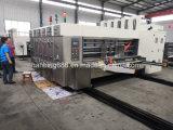Venta de la caja de cartón ondulado Semiautomática máquina de impresión Flexo troquelado