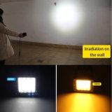 Indicatore luminoso bianco del lavoro di colore giallo doppio 72W LED di colore di Newst, indicatore luminoso del lavoro degli indicatori luminosi 12V LED del punto 4X4