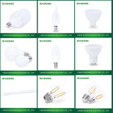 9W E27 6500k LED spot ampoule avec plus d'aluminium PBT