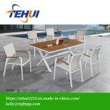 Hotel moderno Home Cafe cadeiras e mesas de jantar de Lazer Piscina Pátio com jardim mobiliário de madeira compensada de alumínio