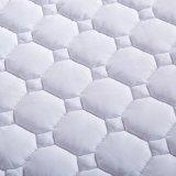 Polyester-Cotton cubierta instalada 7D acolchado protector de colchón de fibra hueca