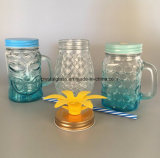 Transparenter farbiger 20oz 24oz Glasmaurer-Glas-Großverkauf 500ml