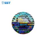 3D-Custom лазерной безопасности Голографическая наклейка Anti-Fake голографические наклейки