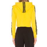 OEMの豪華で黄色く長いしまのある袖のブランクHoodies