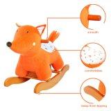 Animal-Fox Rocking Horse brinquedos de madeira