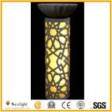 安い芸術の庭の装飾の砂岩柱の切り分けること