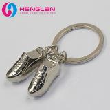 恋人のギフトのキーのホールダー(HL-KC141)のための銀によってめっきされる金属の合金のハート形のキーホルダー