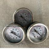 小さいダイヤルの液体によって満たされる多様な真空の圧力計