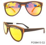 Het perfecte Met de hand gemaakte Houten Opgepoetste Frame van de Acetaat met de Zonnebril Eyewear (van Ce)