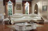 Forme de l canapé en cuir véritable pour mobilier de maison