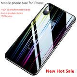 Aurora градиент цвет прозрачный чехол для мобильного телефона закаленное стекло для iPhone