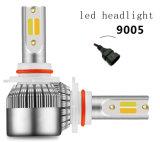 Venda quente C6 Puls cor dupla lâmpada H3 Farol do Carro de LED 5000lm 3000K, 6000K