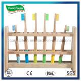 BSCI 100% Natural ecológica Charcol Mango de madera de bambú de cerdas cepillo de dientes