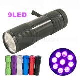 UVtaschenlampe des Haustier-Urin-Blut-Detektor-365-395nm 9 LED