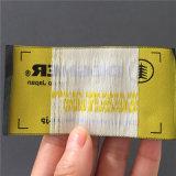 Producir la Tela de poliéster personalizadas 5.2*9.8cm etiqueta tejida etiquetas tejidas