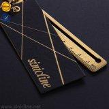 Sinicline 2018 schwarzer RiemenHangtags mit Firmenzeichen-Goldfolien-Überzug-Loch gelochter Papiermarke