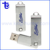 Поворотный металлический логотип лазера портативный цепочки ключей флэш-накопитель USB 4 ГБ