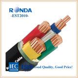 Isolation en polyéthylène réticulé de cuivre gaine en PVC Câble électrique fil d'alimentation électrique