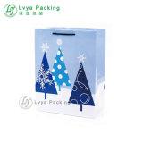 Regalo personalizado de prendas de vestir/bolsa de papel kraft o papel de la bolsa de compras de Navidad