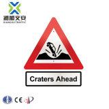 Hoja de Acero Galvanizado Custom tráfico reflectante triángulo redondo Señales de tráfico